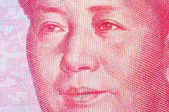 RMB笔记的毛泽东 库存照片