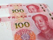RMB,一百元的新版本 免版税库存图片