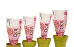 RMB поднимая на белизну Стоковое Изображение