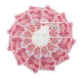 RMB 100 in circle Royalty Free Stock Images