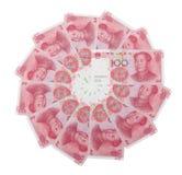 RMB 100 en círculo Imágenes de archivo libres de regalías