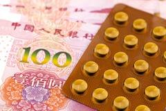 RMB and medicines Royalty Free Stock Photo
