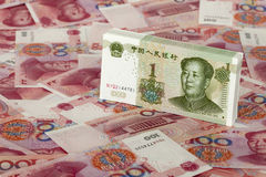 RMB. Bills of  RMB of different face value Stock Image