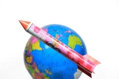 rmb chińska powstająca rakieta Zdjęcia Royalty Free