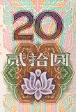Rmb 20. Chinese money rmb background detail texture Stock Photography