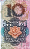 Rmb 10. Chinese money rmb background detail texture Stock Images