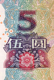 Rmb 5. Chinese money rmb background detail texture Royalty Free Stock Photography