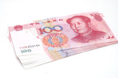 RMB currency. It is isolated RMB currency Royalty Free Stock Photo