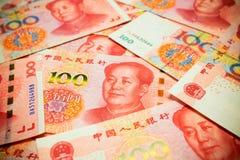 Rmb di Yuan Note di cinese o fondo di Renminbi strutturato Fotografie Stock Libere da Diritti