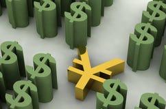 Rmb e dólar Foto de Stock