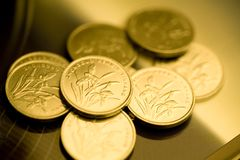 RMB gold coins Royalty Free Stock Images