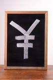 RMB icon written on blackboard Stock Photos