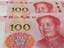 RMB, the new version of one hundred yuan stock images