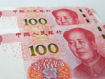 RMB nya versionen av hundra yuan Royaltyfri Bild