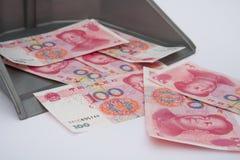RMB in rubbish bin Royalty Free Stock Photos