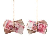 RMB. On a  white background Royalty Free Stock Images