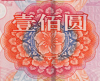 Rmb 100 yuan. Chinese money rmb background detail texture Stock Image