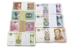 RMB yuan and jiao. On white Stock Image