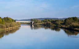 RMD Canal on still day Royalty Free Stock Image