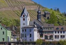 Rme de ¼ de Kirchtà dans le der Stadt Kaub AM Rhein photographie stock libre de droits