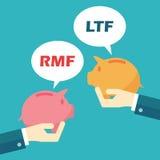 Rmf en ltf Royalty-vrije Stock Afbeelding