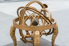 A rmillary sphere model in the Gwanghwamun Square Royalty Free Stock Photo