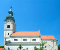 Römisch-katholische Kirche des heiligen Kreuzes (von Jungfrau Maria), Devin Stockbild