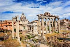 Römische Ruinen in Rom, Forum Lizenzfreies Stockbild