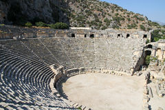 Römischer Amphitheatre Stockfotos