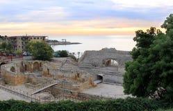 Römischer Amphitheatre in Tarragona, Spanien Lizenzfreies Stockfoto