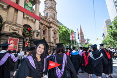 Rmit graduation day Royalty Free Stock Photography