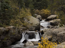 RMNP小瀑布 库存照片