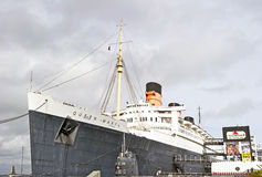 RMS Koningin Mary Oceanliner Stock Afbeeldingen
