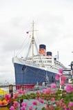 RMS Koningin Mary Oceanliner Royalty-vrije Stock Afbeeldingen