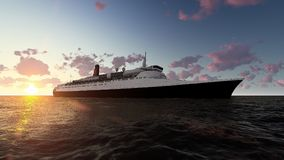 RMS Queen Mary 2 Fotografia Royalty Free