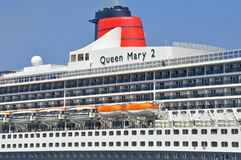 Queen Mary 2 worlds famous ocean liner stock photos