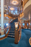 RMS Queen Mary 2 Britannia Restaurant staircase Royalty Free Stock Photo