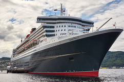 RMS Queen Mary 2. Trondheim Norway - July 18 2012: RMS Queen Mary 2 Stock Photos