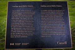 RMS Titanic Plaque stock images