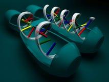 RNA z DNA, 3D rendering Zdjęcie Royalty Free