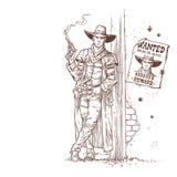 Rånare med ett röka vapen Royaltyfri Bild