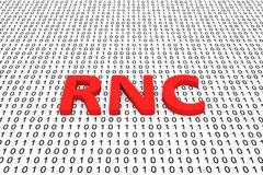 RNC. In the form of binary code, 3D illustration Stock Image