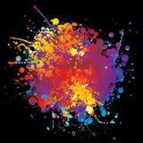 Rnd del arco iris de la tinta stock de ilustración