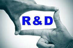 RnD, recherche et développement photographie stock