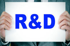 RnD, research and development Stock Image