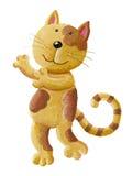 Rżnięty kot daje uściśnięciu Obrazy Royalty Free