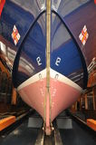 RNLI. BOAT DOCK IN THIER YARD royalty free stock image