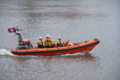 RNLI Launch on River Thames Stock Images