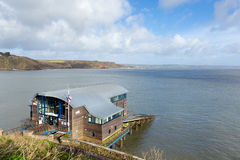 RNLI Lifeboat station house Tenby coast Pembrokeshire Wales. UK Royalty Free Stock Photos