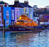 RNLI Lifeboat in Weymouth stock images